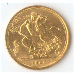 GB Sovereign 1966