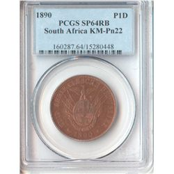 South Africa 1890 Penny