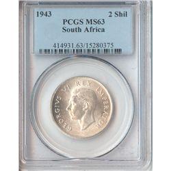 South Africa 1943 Florin