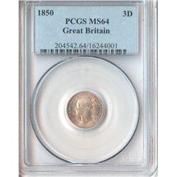 GB 1850 Threepence