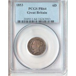 GB 1853 Sixpence