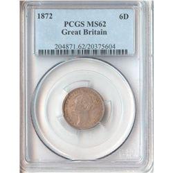 GB 1872 Sixpence