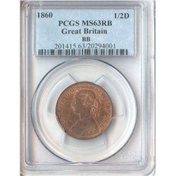 GB 1860 ½ Penny