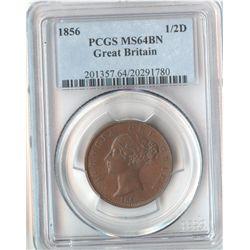 GB 1856 ½ Penny