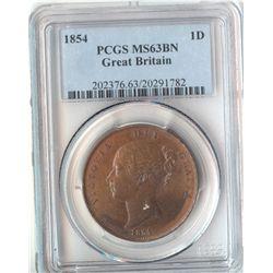GB 1854 Penny