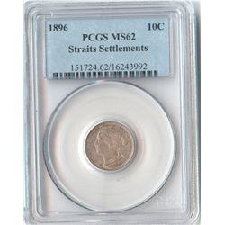 St Settlements 10c 1896