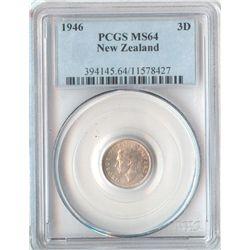 New Zealand 3 Pence 1946