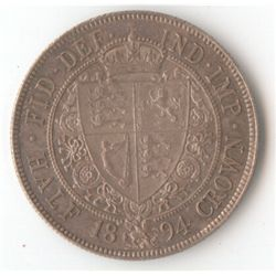 GB 1894 ½ Crown