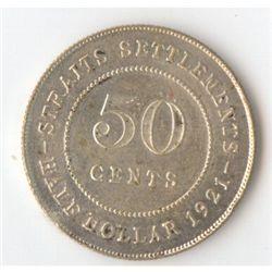 Strait Settlements 50c 1920