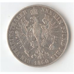 Prussia Thaler 1860
