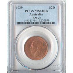 Australia ½ Penny 1939