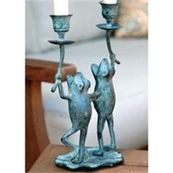 Singing Frog Duo Taper Candleholder