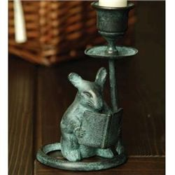 Reading Mouse Taper Candleholder