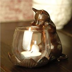 Peeking Cat Votive