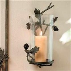 Pinecone Wall Sconce Candle Holder