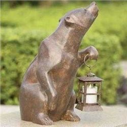 Bear With Lantern / Candle Holder