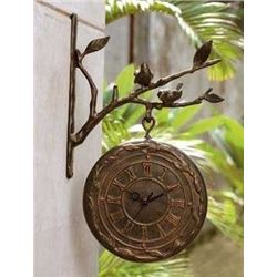 Bird On Branch Clock & Thermometer