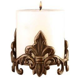 Fleur De Lis Candle Holder