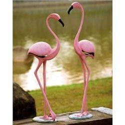 Pink Flamingo Garden Sculptures
