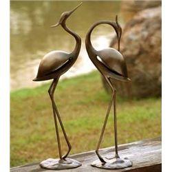 Stylized Garden Heron Pair