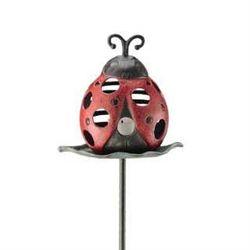 Ladybug Garden Stake Candle Holder