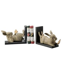 Reading Rabbit Bookends