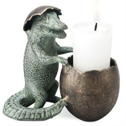 Baby Gator Candle Holder