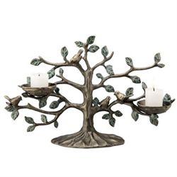 Bird In Tree Candleholder