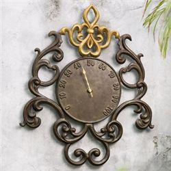 Ornate Fleur De Lis Thermometer