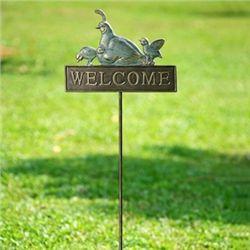 Quail Garden Welcome Sign