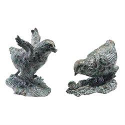 Pair Bird Sculptures