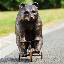 Bear On Trike Garden Sculpture