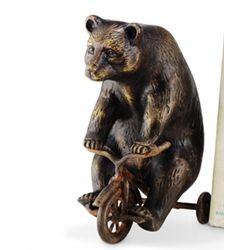 Bear On Trike Paperweight / Sculpture