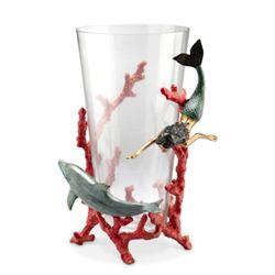 Mermaid & Dolphin Vase