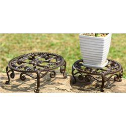 Nested Flower Plant Stands - Set Of 2