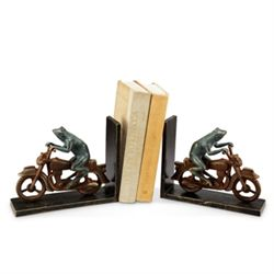 Bike Frog Bookends