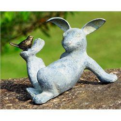 Rabbit & Bird Garden Sculpture