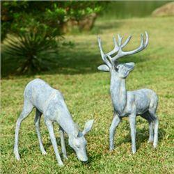 Deer Garden Sculptures - Set Of 2