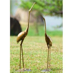 Crane Sculptures - Pair