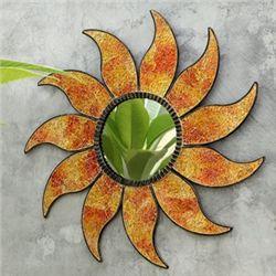 Mosaic Glass Sun Mirror