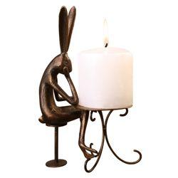 Café Bunny Candleholder