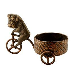 Bicycle Bulldog Pillar Candleholder