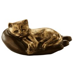 Cat On Hand Paperweight