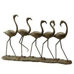 Flamingo Parade Sculpture