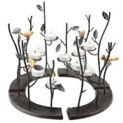 Birds & Branches Circular Candle Holder