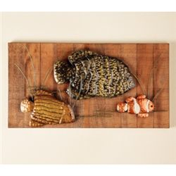 Fish Sculpture Wall Plaque