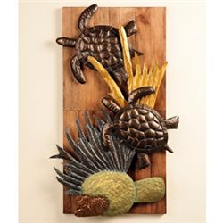 Turtle Sculpture Wall Plaque
