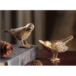 Cast Iron Hummingbird Figurines - Pair