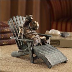 Turtle On Beach Chair Sculpture