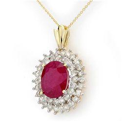 Genuine 10.81 ctw Ruby & Diamond Pendant Yellow Gold